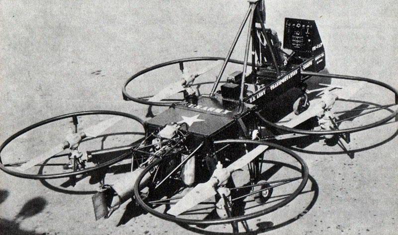 Первый квадрокоптер в 1956 году