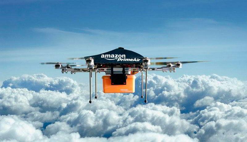 Квадракоптер Amazon для доставки товаров и грузов