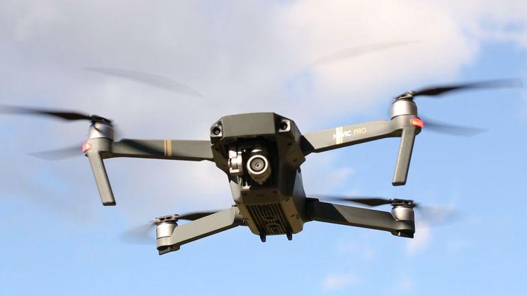 Квадрокоптера Dji Mavic Pro во время полета
