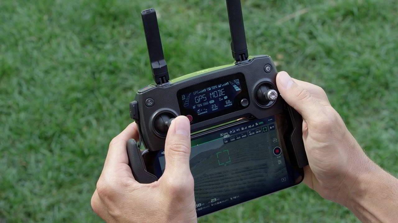Управление полетом квадрокоптера Dji Mavic Pro с помощью пульта управления